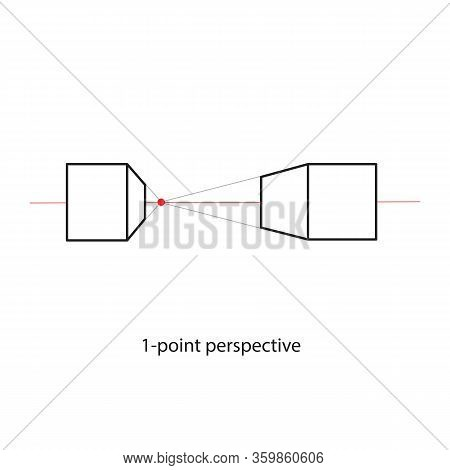 One Point Perspective Line Drawing Study Art Architecture