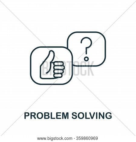 Problem Solving Icon From Machine Learning Collection. Simple Line Problem Solving Icon For Template
