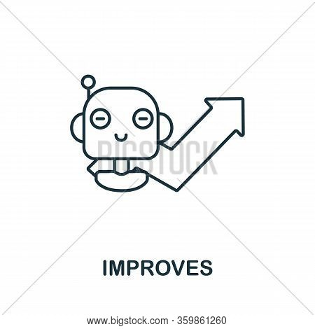 Improves Icon From Machine Learning Collection. Simple Line Improves Icon For Templates, Web Design