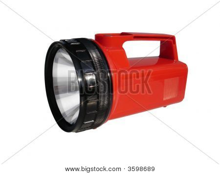 Camping Flashlight Isolated