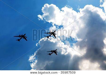 Tu95 бомбардировщики