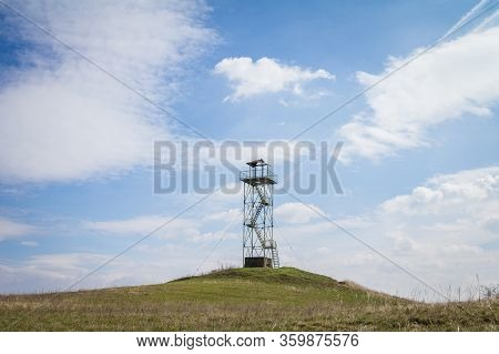 Old Military Watchtower On The Serbian Border Used For Army Observation And Border Control.