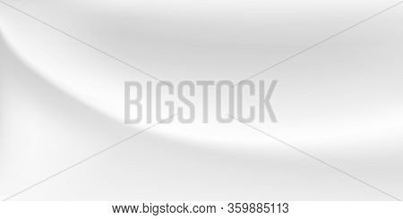 Abstract Background With Wavy Surface In White And Gray Colors