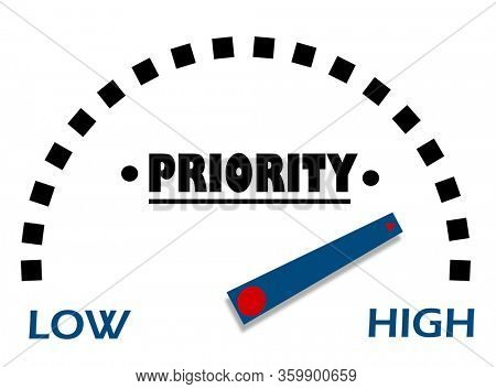 High priority level indicator concept
