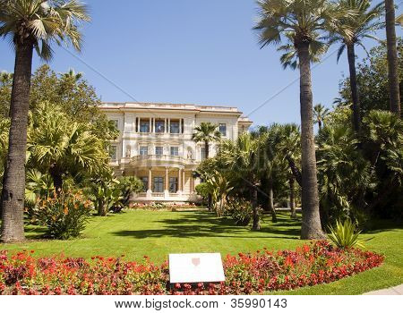 Musee Museum Massena  Flower Garden The French Riviera Nice France