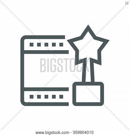 Movies Star Of Film Production  Vector Icon Design.