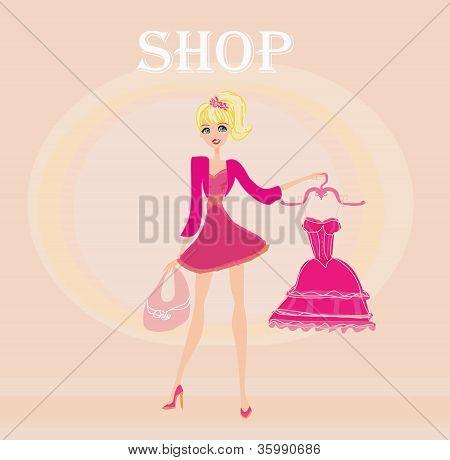Beautiful Women Shopping