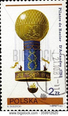 02 10 2020 Divnoe Stavropol Territory Russia The Postage Stamp Poland 1981 The Gordon Bennett Sport