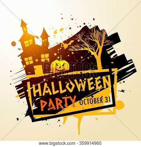 Creepy Halloween Party Celebration Background Vector Design Illustration