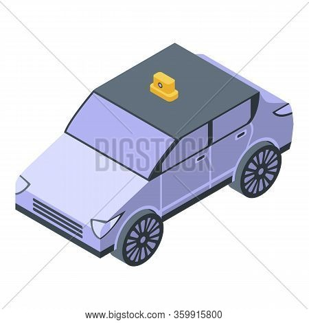Cab Taxi Icon. Isometric Of Cab Taxi Vector Icon For Web Design Isolated On White Background