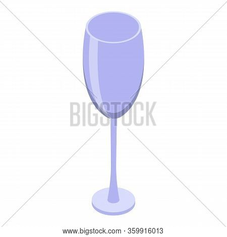 Champagne Flute Icon. Isometric Of Champagne Flute Vector Icon For Web Design Isolated On White Back
