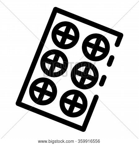 Refill Pill Package Icon. Outline Refill Pill Package Vector Icon For Web Design Isolated On White B