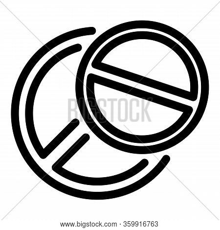 Aspirin Pill Icon. Outline Aspirin Pill Vector Icon For Web Design Isolated On White Background