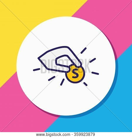 Vector Illustration Of Contribution Icon Colored Line. Beautiful Emotions Element Also Can Be Used A