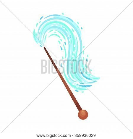 Fairy Stick With Sparkling Glow For Magic Enchantment Vector Illustration