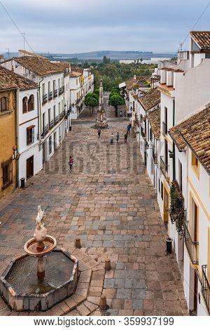 Cordoba, Spain - October 31, 2019: Square Of Colt, Plaza Del Potro In Cordoba, Spain. Plaza Del Potr