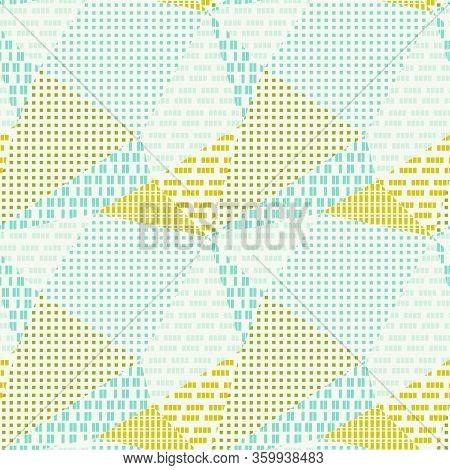 Textured Triangle Polygon Geometric Seamless Pattern