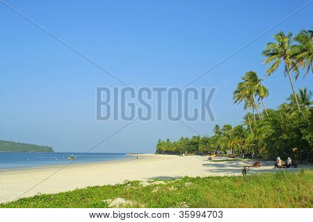 Famous Cenang beach on Langkawi island, Malaysia poster