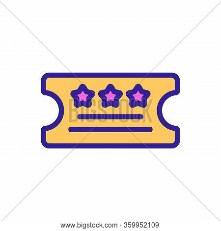 Lottery Ticket Icon Vector. Lottery Ticket Sign. Color Contour Symbol Illustration