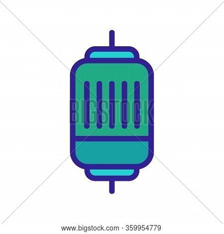 Electric Motor Quick Icon Vector. Electric Motor Quick Sign. Color Contour Symbol Illustration