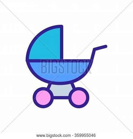 Cot Toy Icon Vector. Cot Toy Sign. Color Contour Symbol Illustration