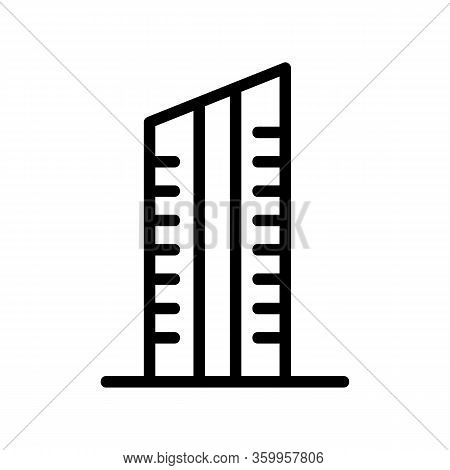 Skyscraper Popular Icon Vector. Skyscraper Popular Sign. Isolated Contour Symbol Illustration