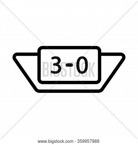 Scoreboard Icon Vector. Scoreboard Sign. Isolated Contour Symbol Illustration
