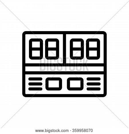 Scoreboard Basketball Icon Vector. Scoreboard Basketball Sign. Isolated Contour Symbol Illustration