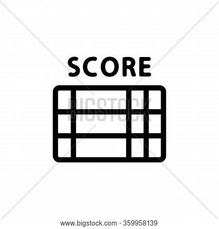 Scoreboard Tournament Icon Vector. Scoreboard Tournament Sign. Isolated Contour Symbol Illustration