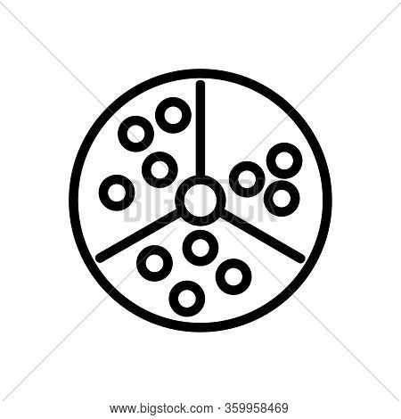 Lottery Lotto Icon Vector. Lottery Lotto Sign. Isolated Contour Symbol Illustration