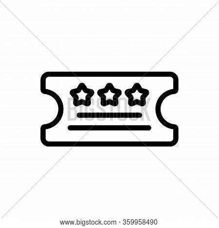 Lottery Ticket Icon Vector. Lottery Ticket Sign. Isolated Contour Symbol Illustration