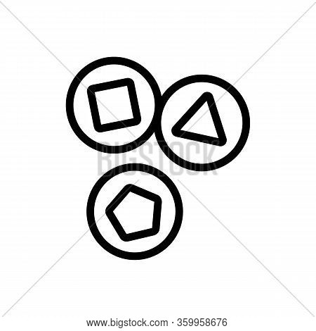 Lottery Draw Icon Vector. Lottery Draw Sign. Isolated Contour Symbol Illustration