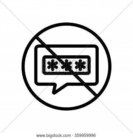 The Password Is Forbidden Icon Vector. The Password Is Forbidden Sign. Isolated Contour Symbol Illus