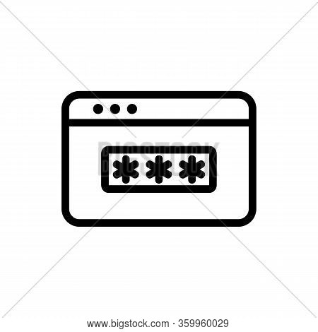 Password Browser Icon Vector. Password Browser Sign. Isolated Contour Symbol Illustration