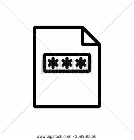 The Password File Icon Vector. The Password File Sign. Isolated Contour Symbol Illustration