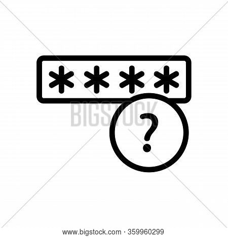 The Password Is Encrypted Icon Vector. The Password Is Encrypted Sign. Isolated Contour Symbol Illus