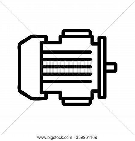Electric Motor Icon Vector. Electric Motor Sign. Isolated Contour Symbol Illustration