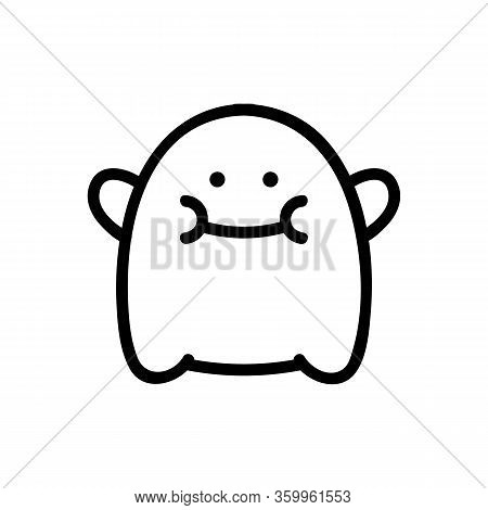 Troll Toy Icon Vector. Troll Toy Sign. Isolated Contour Symbol Illustration