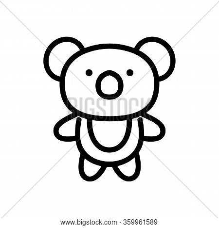 Panda Toy Icon Vector. Panda Toy Sign. Isolated Contour Symbol Illustration