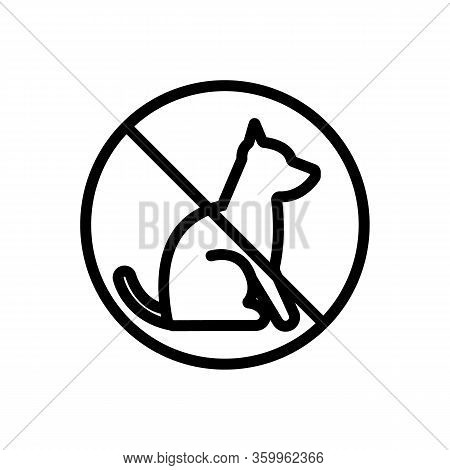 It Is Impossible With Animals Icon Vector. It Is Impossible With Animals Sign. Isolated Contour Symb
