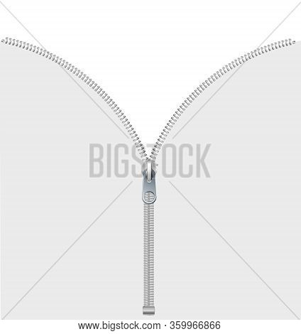 Vector Illustration Of 1 2 3 Concept Template Zippered Lock And Unlock.vector Icon Closed And Open Z