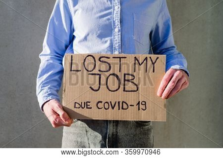 Man With Cardboard Sign Lost Job