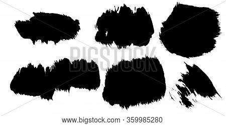 Paint Brush Line Stroke, Banner Art Ink Black Of Stain Splash Dirty Liquid, Paintbrush Ink Black Str