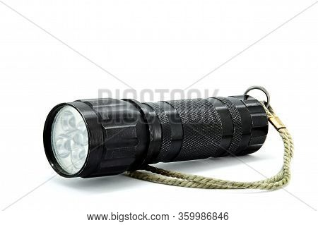 Led Flashlight That Has A Rope To Hold In Your Hand During A Hiking Trip Or In Extreme Conditions.