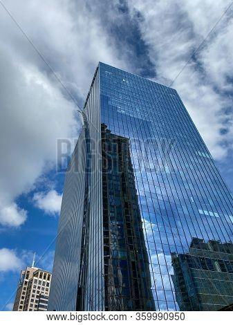 Atlanta, Ga/usa-3/21/20:  Condominiums And Corporate Buildings In The Buckhead District Of Atlanta,