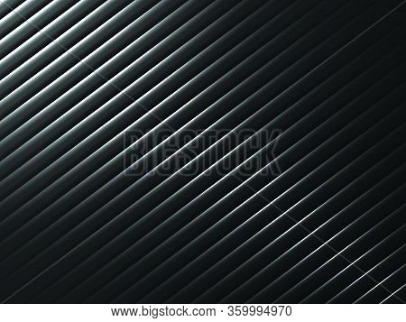 Dark Abstract Metal Background With Line Texture Design, Vector Illustration