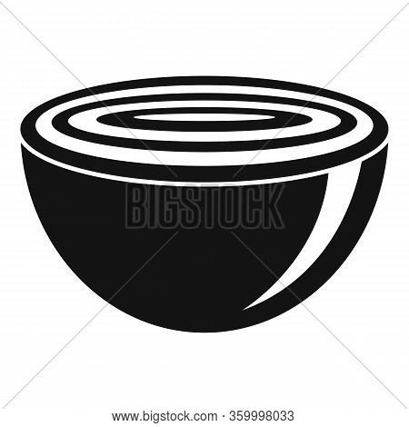 Half Cutted Onion Icon. Simple Illustration Of Half Cutted Onion Vector Icon For Web Design Isolated