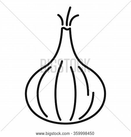 Fresh Onion Icon. Outline Fresh Onion Vector Icon For Web Design Isolated On White Background