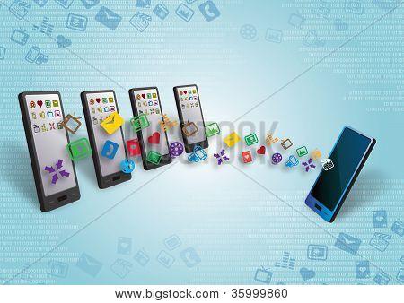 Many Cellular Smartphones Mobile Data Transfer
