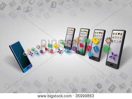 Many Smartphones Mobile Data Transfer